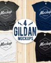 T Shirt Mockup Bundle Gildan 5000 All Colors On White Wood Etsy