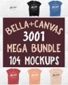 T Shirt Mockup Bella Canvas 3001 Mega Bundle All Colors On Etsy
