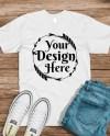 Bella Canvas 3001 White Unisex T Shirt Mock Up T Shirt Mock Etsy