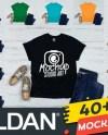 Men S Black Gildan 64000 T Shirt Mockup Masculine Tshirt Etsy