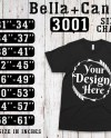 Bella Canvas 3001 Size Chart T Shirt Mockup Flat Lay Digital Etsy