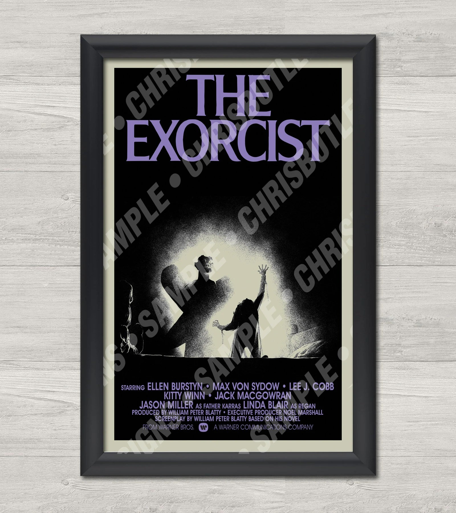 the exorcist poster etsy