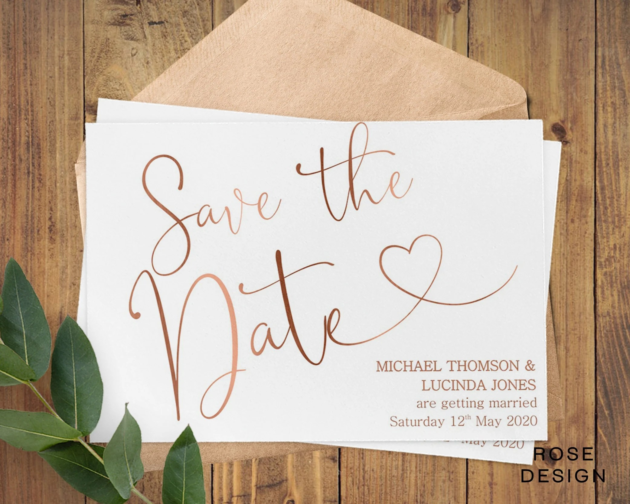 personalised wedding save the