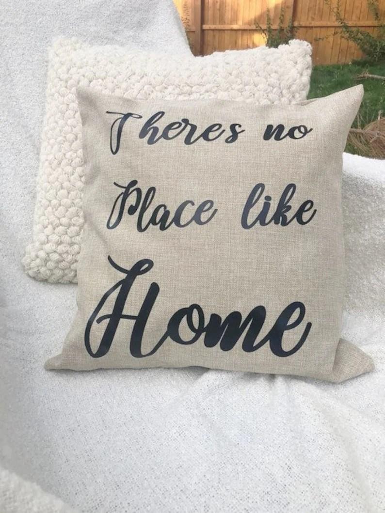 Cozy Home Throw Pillow Cover 18 X 18 Pillow Cover Phrase Pillow Rustic Decor Rustic Pillow Farmhouse Pillow Cover Phrase Pillow