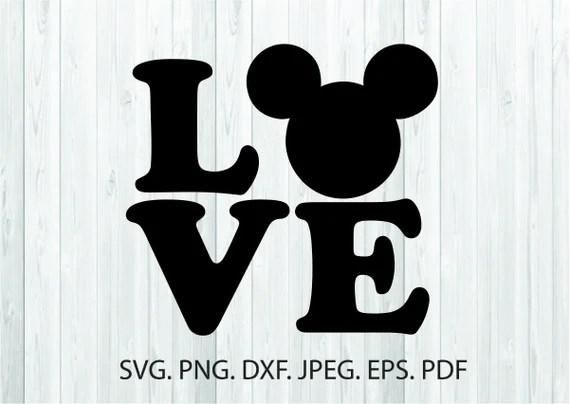 Download Love Disney Svg Love Mickey Mouse Silhouette Disneyland ...