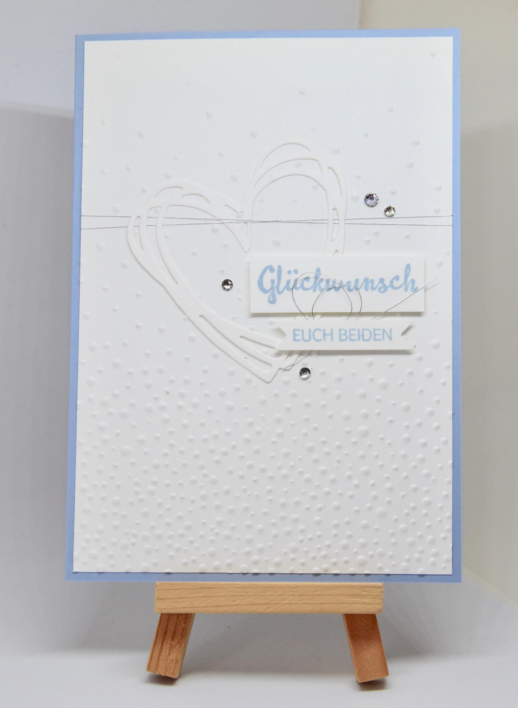 embossed wedding card congratulations