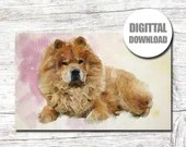 Custom Pet Portrait Painting Memorial Watercolor Effect Dog Photo Picture Cat Bird Hamster Digital Print Customize Personalize
