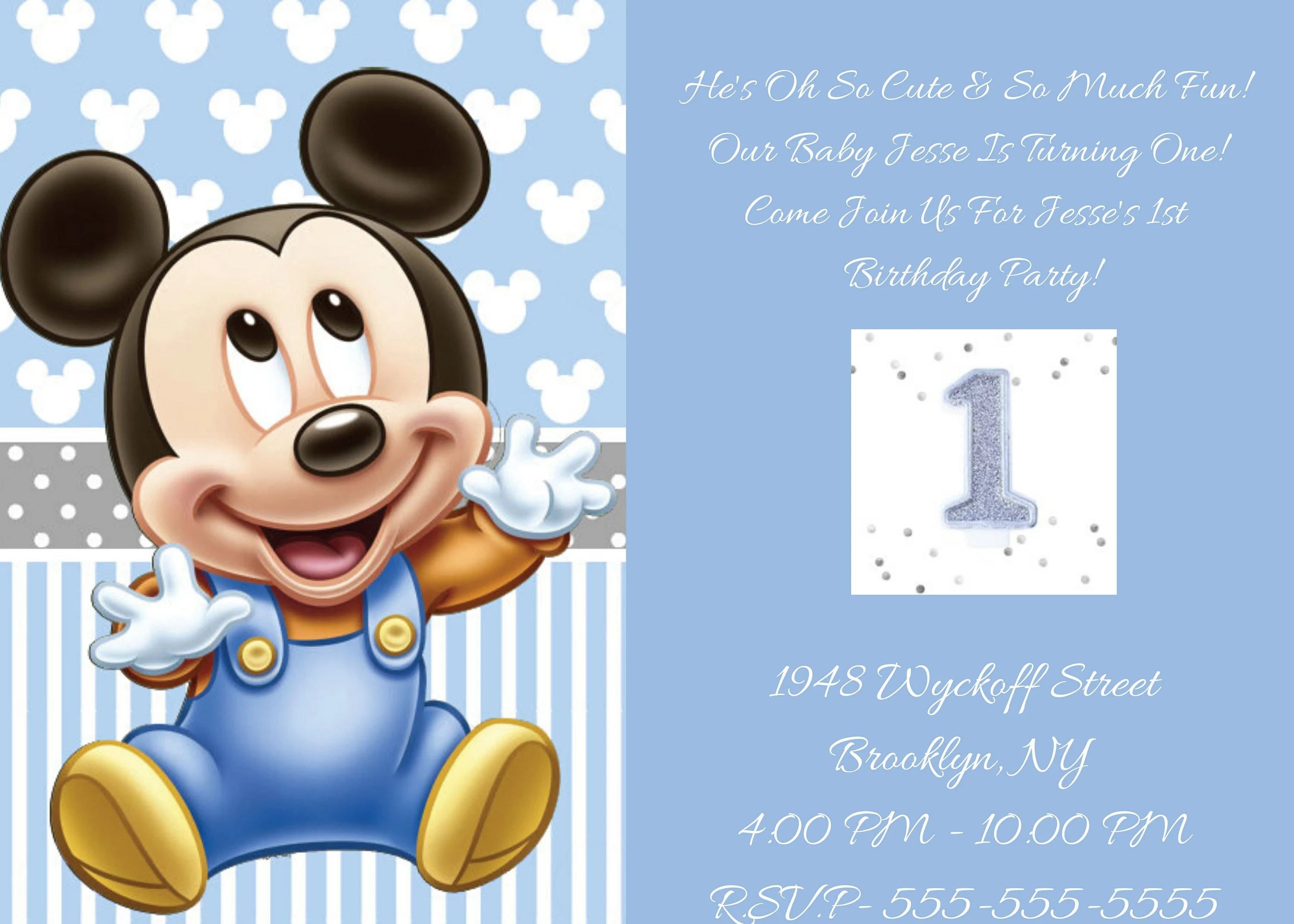baby mickey mouse party shower birthday invitations mickey mouse 1st birthday invites baby boy invites baby mickey mouse invitations