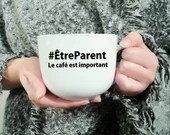 Decal vinyl for coffee mug with text being a parent Cup personalization sticker, caffeine, funny phrase