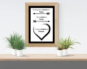 Printed poster with inspirational phrase on the happiness of the present, Wall Art, digital art, inspiration, decoration, art.