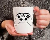 Vinyl decal for coffee mug with console joystick, Cup customization, sticker, decoration