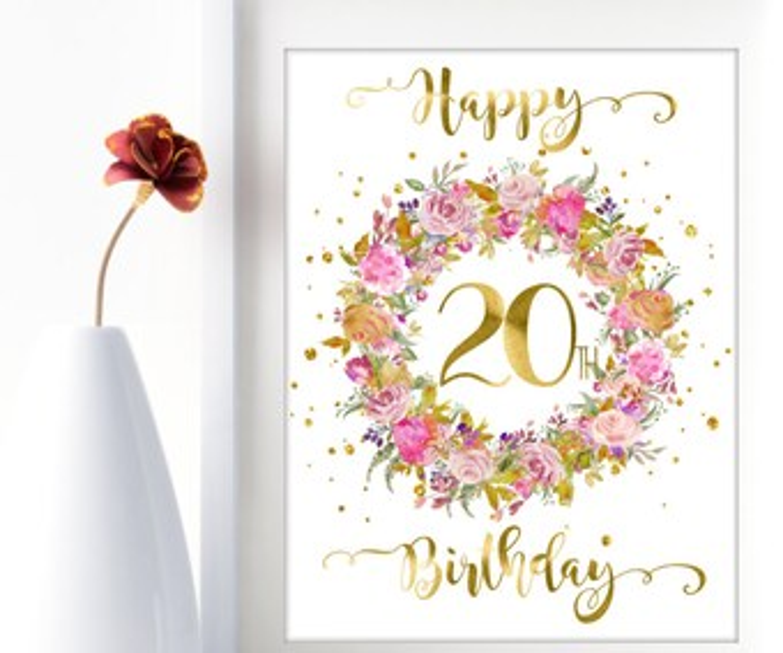 20th birthday ideas etsy