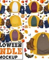 Halloween Bundle Bella Canvas 3001 Mockups Fall T Shirt Mock Etsy