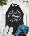 Mega Bundle 12 Mockups Raglan 3 4 Tshirt Multi Colors Mock Ups Etsy