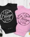 Blank Black White Baby Onepiece Mockup Fashion Design Styled Etsy