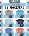Mega Bundle 14 Mockups Gildan 64000 Tshirt Multi Colors Mock Etsy