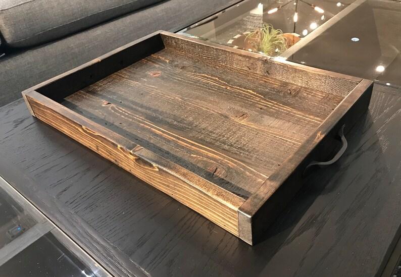 ottoman tray coffee table tray serving tray reclaimed rustic tray table tray