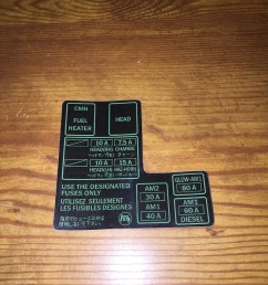 1984 88 toyota pickup truck 4runner fuse box decal 22re etsy88 toyota fuse box 3 [ 794 x 1059 Pixel ]