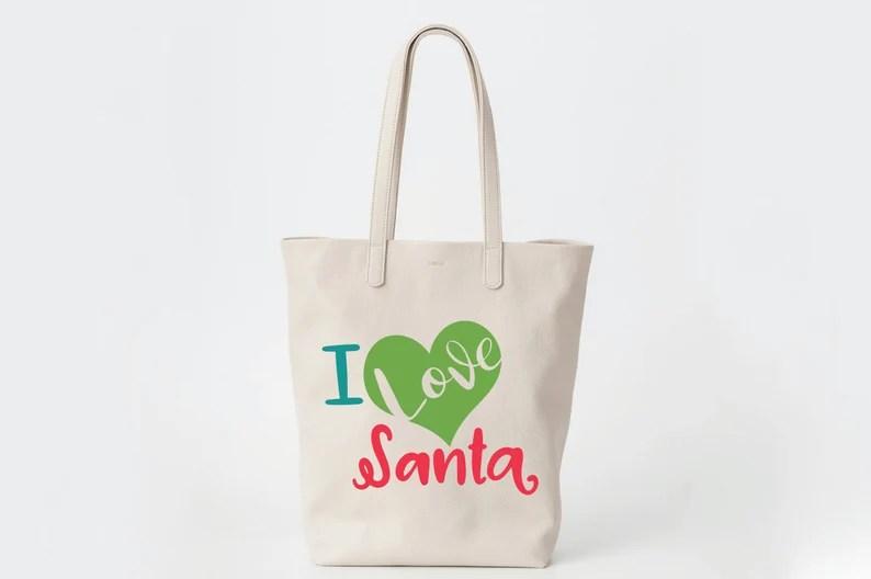 Download I Love Santa SVG Cut file Christmas SVG Clip Art | Etsy