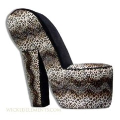 Leopard High Heel Shoe Chair Costco Recliner Chairs Etsy Stiletto