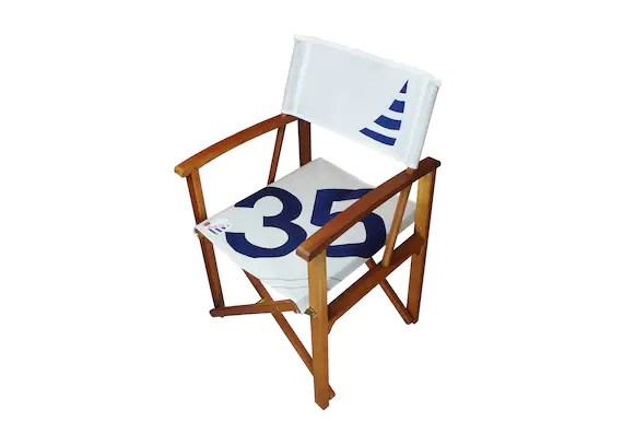 sailcloth beach chairs portable high chair baby bunting wooden director s with seating etsy image 0