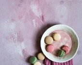 Pink with stains vinyl backdrop ML219, food photography background, backdrop for productphotography, flatlay styling and propstyling
