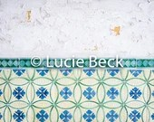Portugese wall and tiles backdrop, ML840, vinyl backdrop, colourful backdrop, Portuguese tiles, backdrop food photography, myluciebackdrops