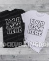 Unisex Crew Neck Couples Mockup Wedding T Shirt Mockup Etsy