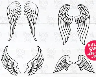 angel wing clipart etsy
