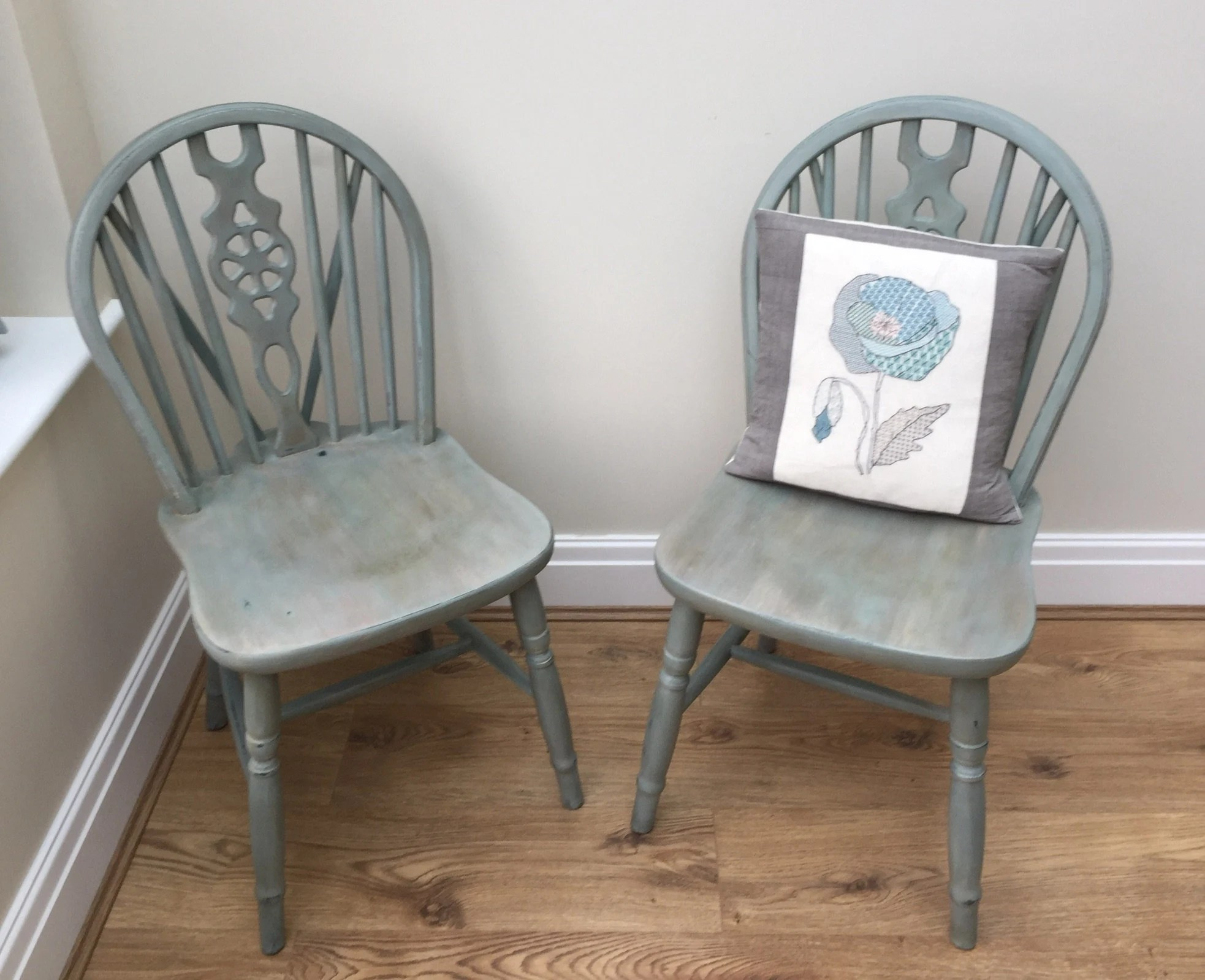 Refurbished Chairs Sold Sold Sold Pair Of Windsor Wheel Back Chairs Refurbished With Annie Sloan Chalk Paint Wax