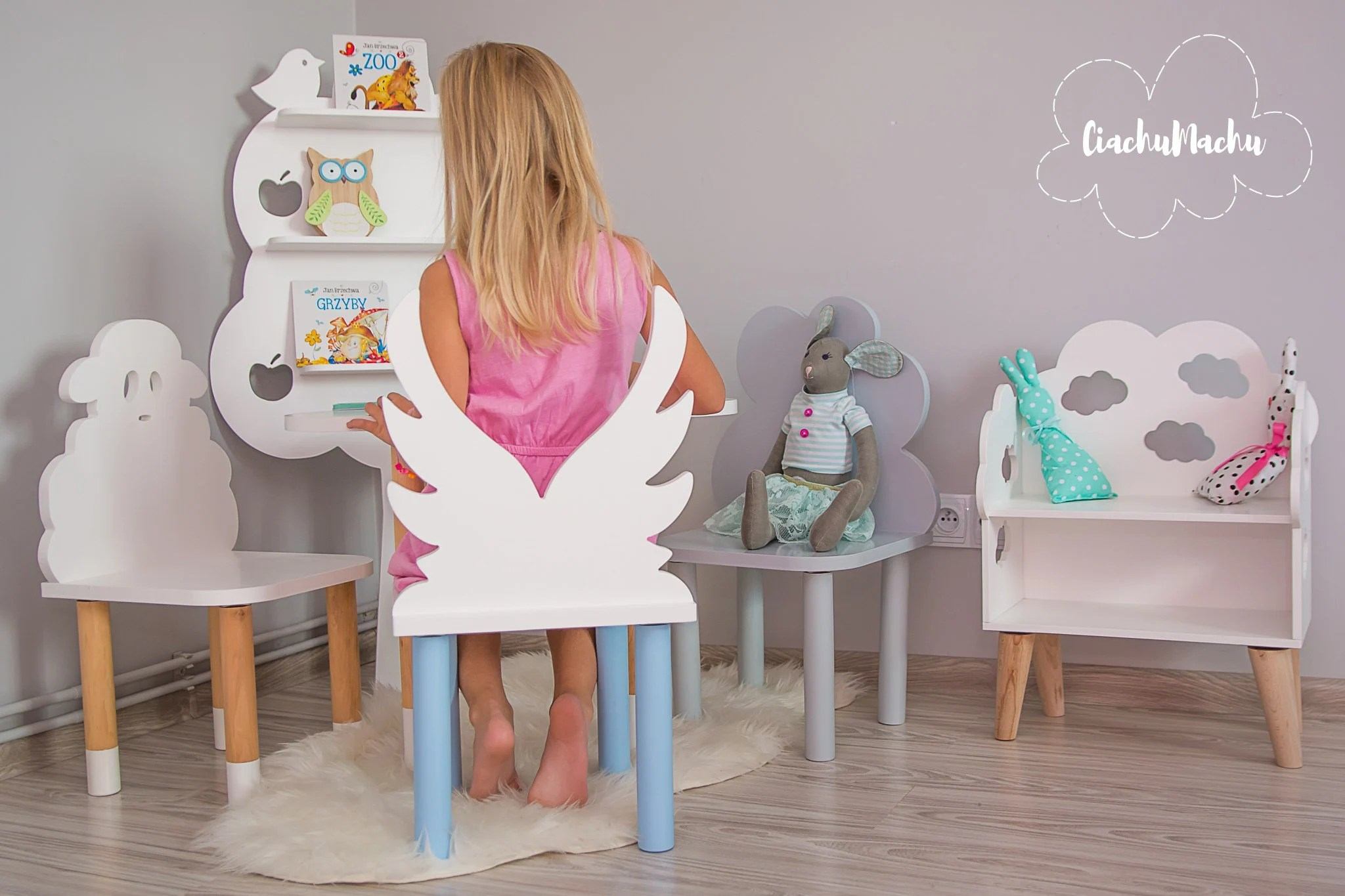 chair for toddler girl thinking from blues clues etsy angel kids furniture gift baby decor wooden