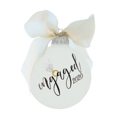 Engagement Gift Personalized Engagement Ornament Engaged image 0