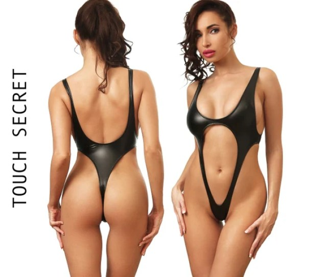 Sexy One Piece Swimsuit Bodysuit Thong Bathing Suit Women Etsy