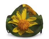 Premium face mask - Yellow Flower