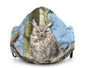 Premium Face Mask - Sleeping Desert Horned Owl