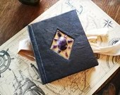 Small Leather Journal Amethyst, Magic Book, Grimoire, Vintage Notebook, Medieval Style, Antique Journal, Witchcraft, Art Diary, Unique