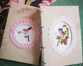 Cute A6 watercolor sketchbook, vintage artjournal, 300g paper