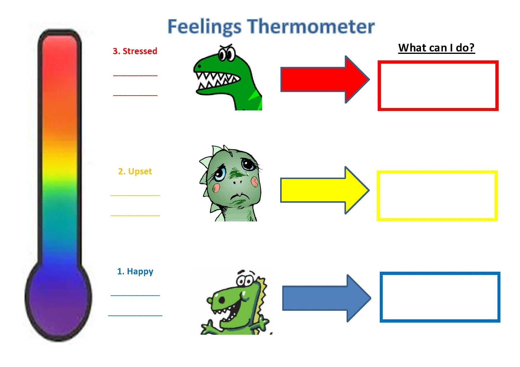 Dinosaur Thermometer Emotional Scale
