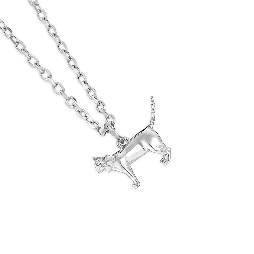 Standing Cat Sterling Silver Jewellery Necklace par Mylee