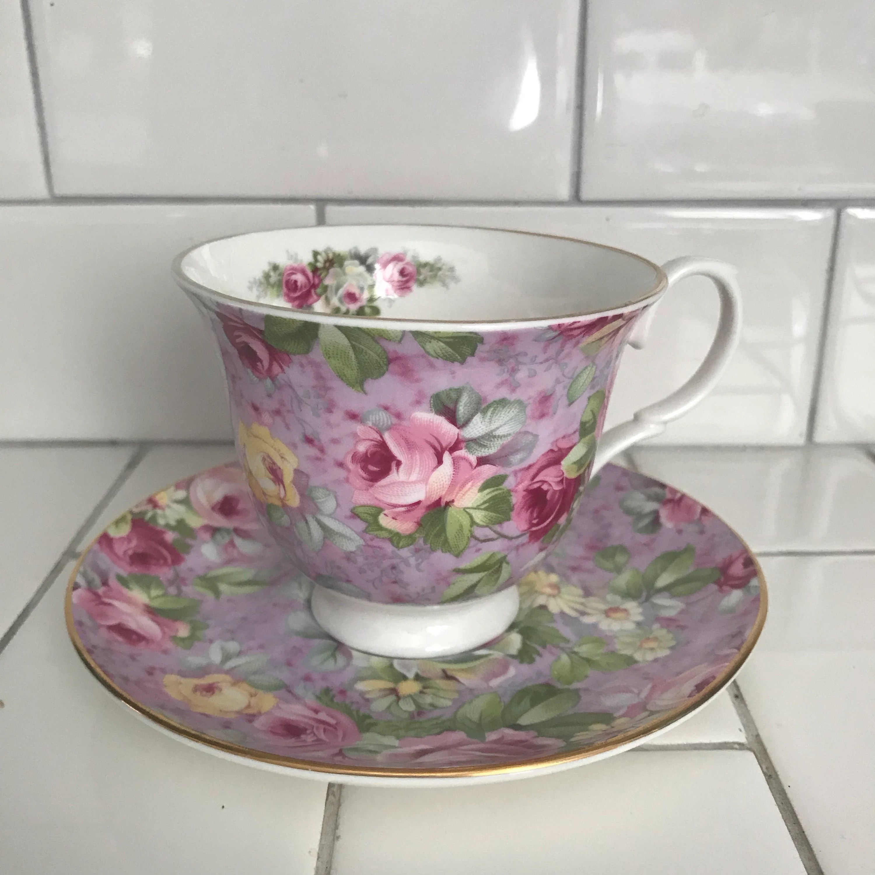 Crown Trent Limited tea cup and saucer England Fine bone china   Etsy