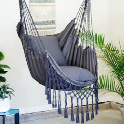 Swing Chair With Stand Kuwait Hickory Sofas Hanging Etsy Gray Macrame Hammock Pillow Combo Indoor Outdoor