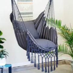 Swing Chair Pics Banana Leaf Etsy Gray Macrame Hammock Pillow Combo Indoor Outdoor Hanging