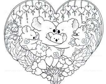 Cute Coloring Page Etsy