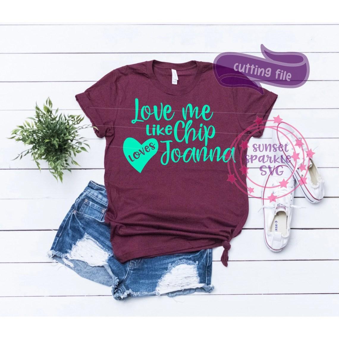 Download Love Me like CHIP loves JO SVG wife shirt svg dxf png file ...