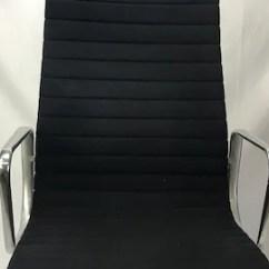 Black Eames Chair Types Living Room Etsy Vintage Aluminum Group High Back