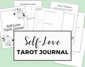 Self-Love Tarot Journal   Tarot Spread Templates   Prompted Journal   A4 + US Letter Sized PDF Printable for Instant Digital Download
