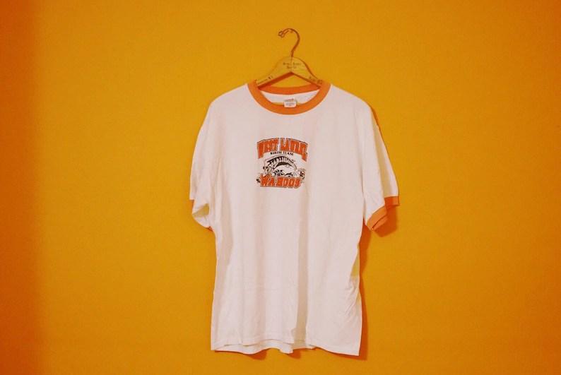 Vintage Ringer T Shirt Xl