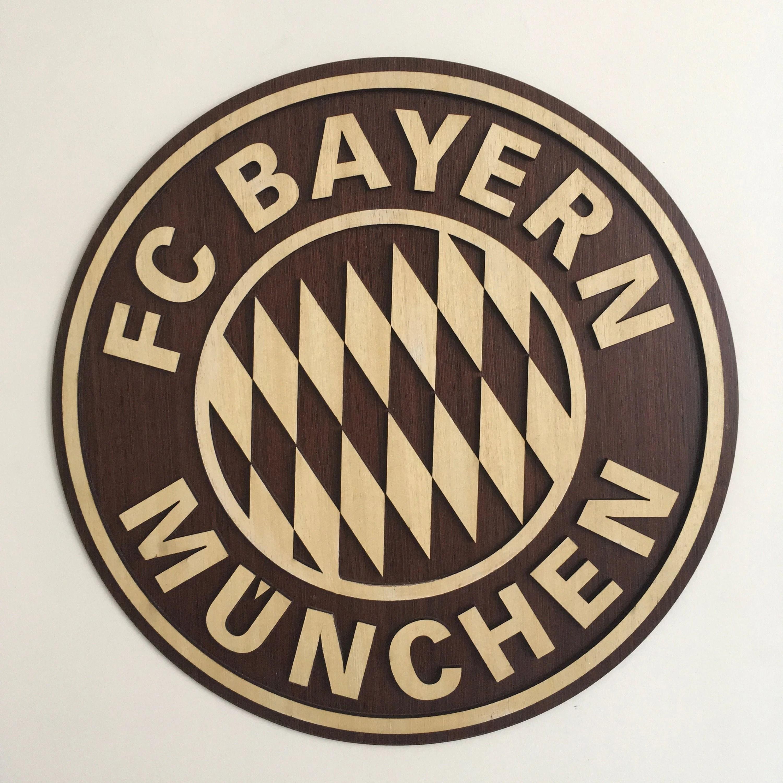 wooden football logo crest