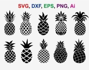 Pineapple silhouette Etsy