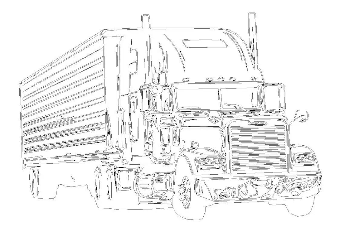 1991 Freightliner svg dxf eps png vector file for